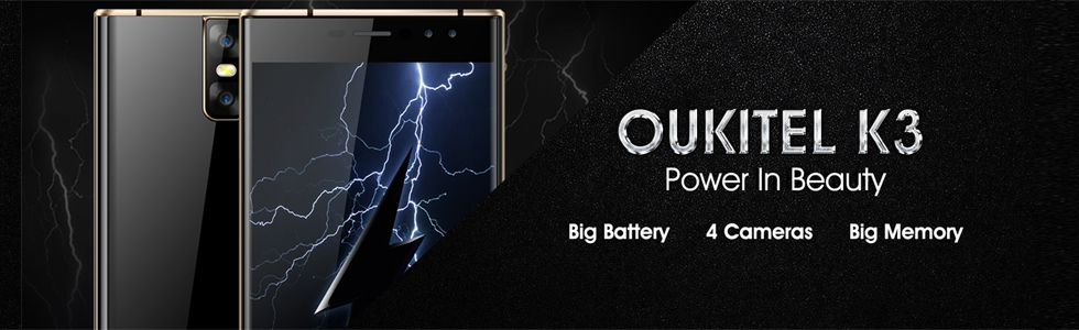 Oukitel K3 is announced with two rear and two front cameras along with a large battery
