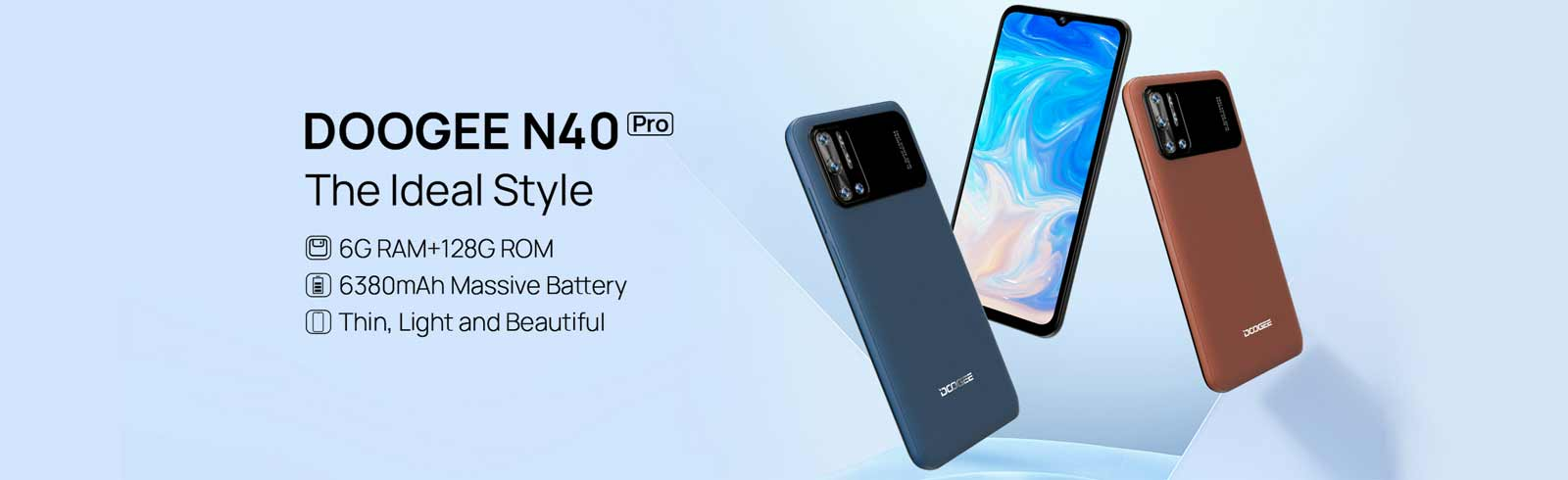 The Doogee N40 Pro with a 6380 mAh battery goes official