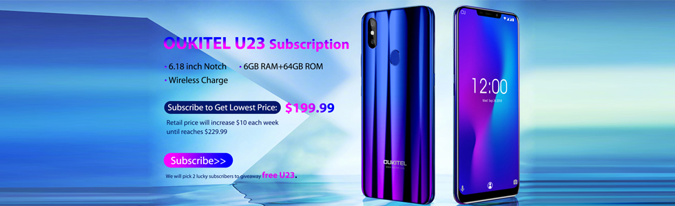 Oukitel U23 price unveiled, starts at $199.99