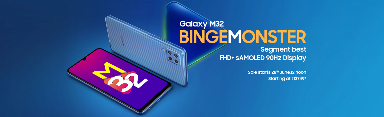 The Samsung Galaxy M32 goes official in India with an sAMOLED display, 90Hz refesh rate, Helio G80 chipset