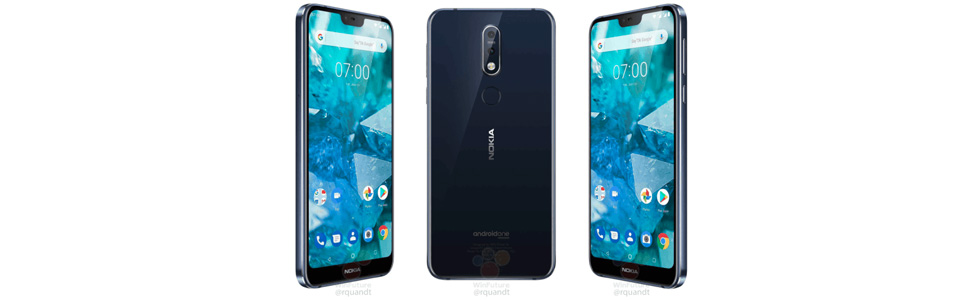 Nokia 7.1 official renders leak out