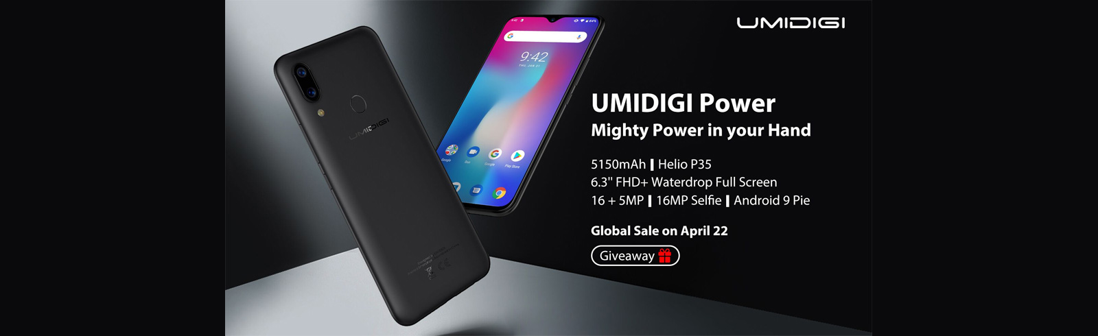UMIDIGI Power official specifications are unveiled, will go on sale on April 22nd