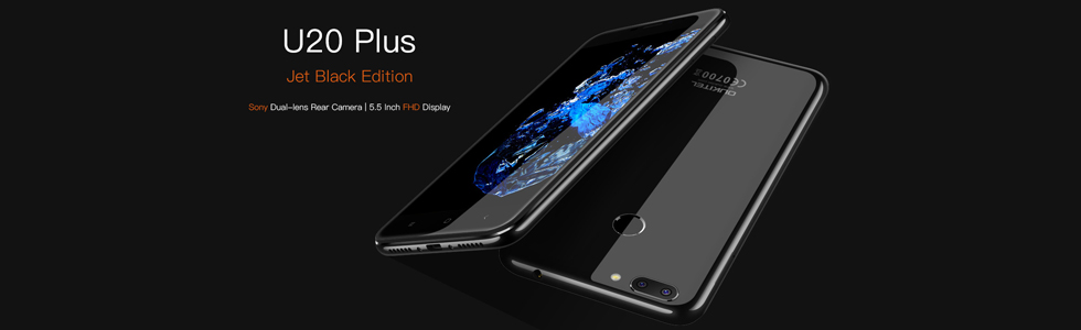 Oukitel U20 Plus to get a jet black version