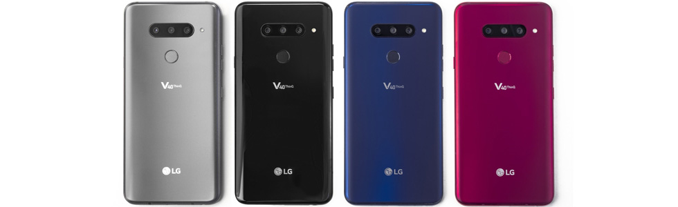 "LG V40 ThinQ goes official with two front and three rear cameras, 6.4"" QHD+ OLED display"
