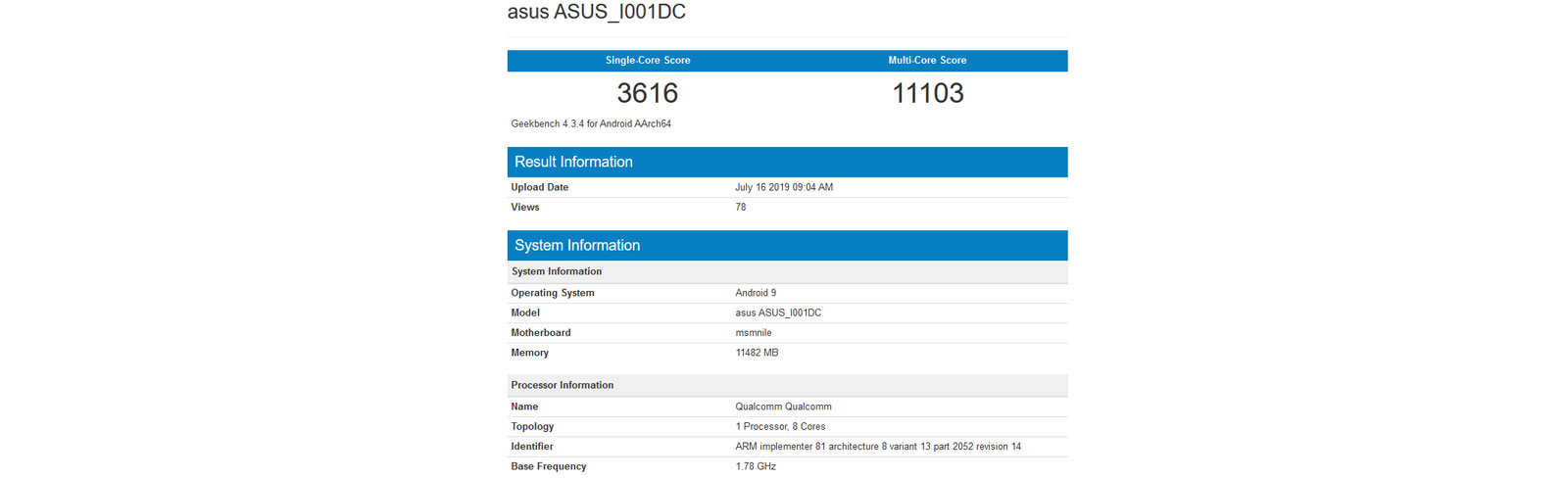 ROG Phone 2 with Snapdragon 855 Plus appears on Geekbench