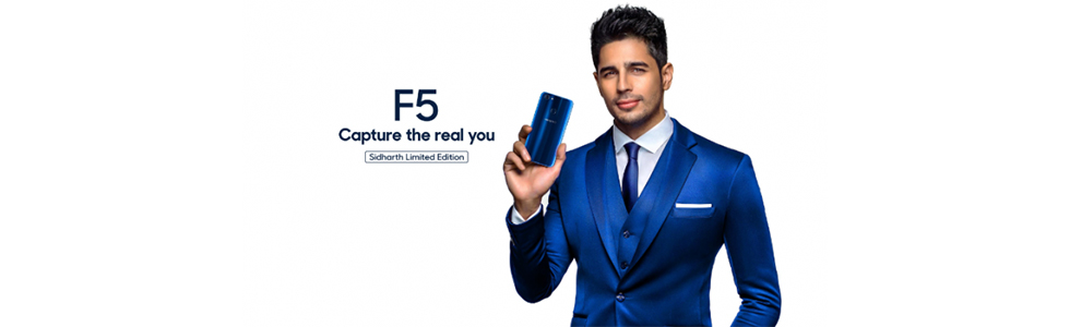 Oppo F5 Sidharth Limited Edition is launched in India
